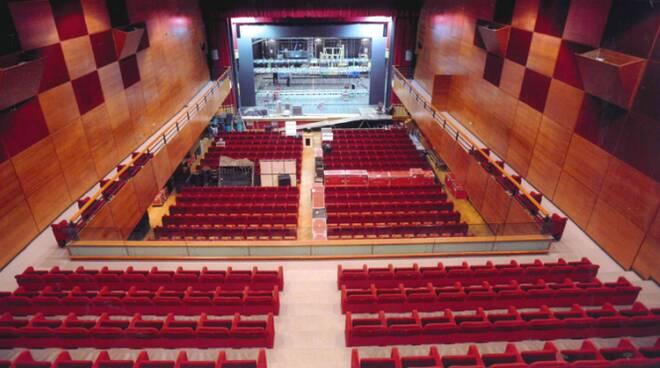 L'interno del Teatro Diego Fabbri di Forlì