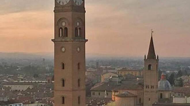 Il centro di Forlì dall'alto