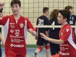 In foto il momento di esultanza della Bunge Romagna In Volley