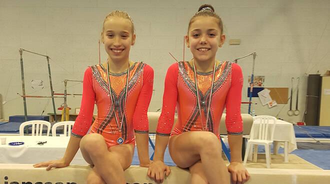 In foto le ginnaste Rachele Savorelli e Anna Pugliese