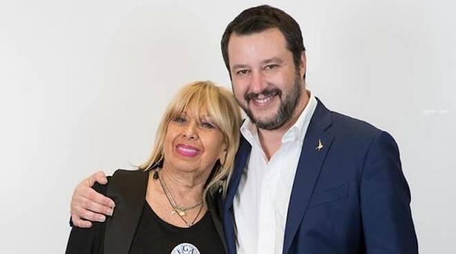 Maria Marabini con Matteo Salvini