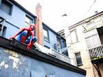 Mauro Merlino in veste di Spider-Man pro Ius Soli
