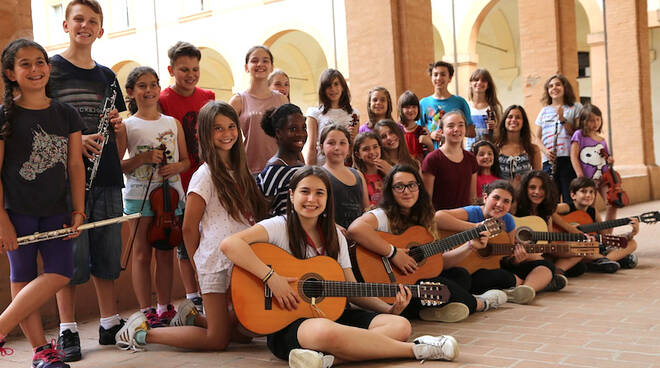 Una foto del Music Summer Camp di Accademia Bizantina a Bagnacavallo