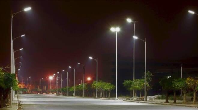 Illuminazione con led ad alta efficienza (immagine d'archivio)