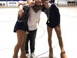 Le atlete Debora Altini e Alice Montevecchi con l'allenatrice Alice Poli
