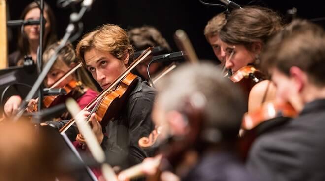 Gli studenti dell'Istituto superiore di studi musicali Verdi