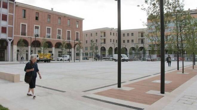 La rinnovata Piazza della Libertà a Cesena (foto d'archivio)