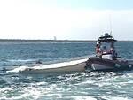 Una foto dell'intervento della Guardia Costiera