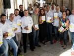 La 'brigata' dei cuochi con i responsabili di Destinazione Romagna alla Vecchia Pescheria di Rimini