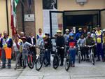 I partecipanti alla pedalata della Liberazione, organizzata dagli Aquilotti di Cervia