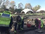 Archeologi al lavoro nel sito della Villa Romana di Russi