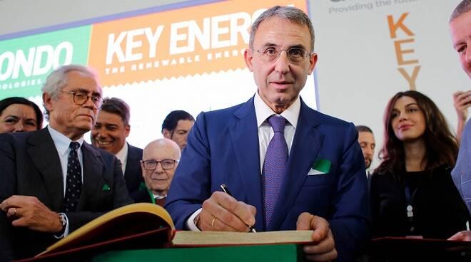 Il Ministro dell'Ambiente Sergio Costa all'inaugurazione di Ecomondo