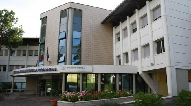L'ingresso dell'Istituto Romagnolo Ricerca sui Tumori (foto d'archivio)