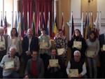 Nella foto i rappresentanti dei Comuni premiati