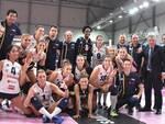 Tecnici, dirigenti ed atlete di Conad Ravenna dopo la vittoria contro Sassuolo