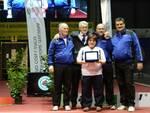 I dirigenti dell'Arco Club Riccione Raimondo Luponetti e Andrea Bertolino con il presidente Fitarco Mario Scarzella
