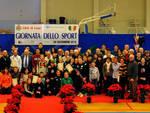 Il gruppo degli atleti e delle società a cui sono andati i premi e i riconoscimenti