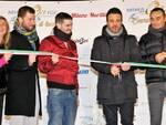 Il Sindaco Luca Coffari inaugura la pista del ghiaccio di Cervia (foto Gianni Zampaglione)