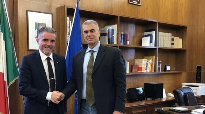 Il Sindaco Paolo Lucchi con il nuovo Prefetto di Forlì-Cesena Antonio Corona