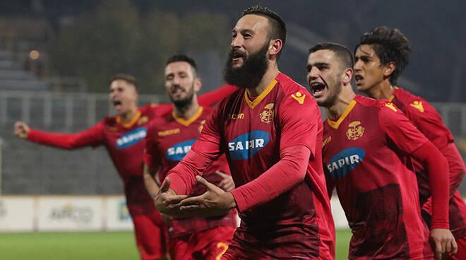 Manuel Nocciolini festeggia il goal