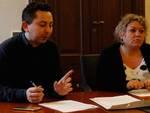 Massimo Manzoli e Samantha Tardi durante la conferenza stampa