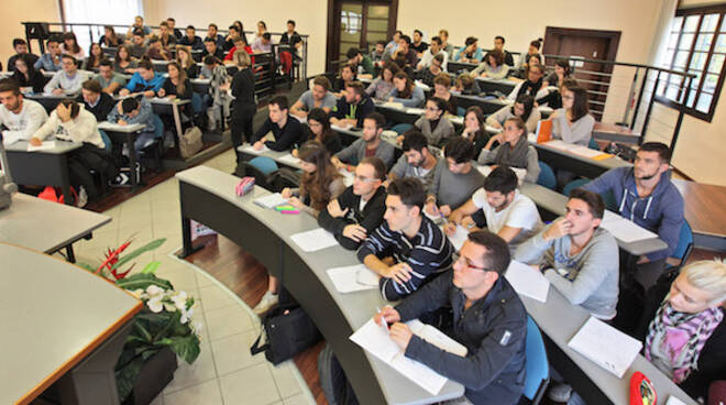 Un'aula del campus universitario di Forlì (foto d'archivio)