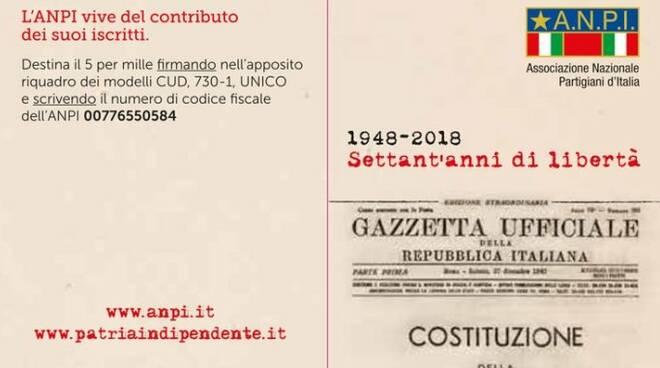 La tessera 2018 dell'Associazione Nazionale Partigiani d'Italia