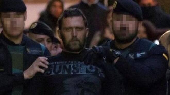 Norbert Feher alias Igor 'il russo' durante l'arresto