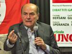 Pierluigi Bersani in uno degli ultimi incontri in Romagna