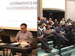 Un'immagine dell'incontro pubblico in sala Buzzi