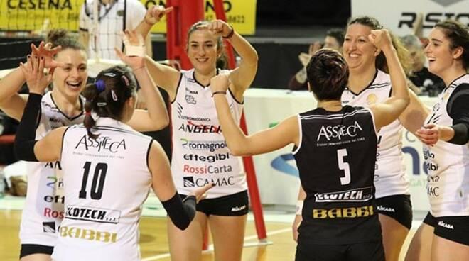 Elettromeccanica Angelini Cesena esulta per la vittoria
