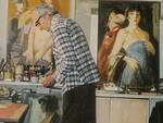 Giuseppe Tampieri nel suo studio
