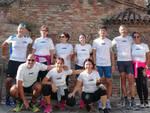 Gruppo di runners davanti al Battistero degli Ariani a Ravenna