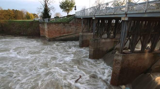 Il fiume Montone in piena. Immagine di repertorio