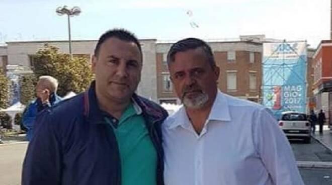 Il segretario dell'Ugl di Forlì-Cesena-Rimini-Ravenna Filippo Lo Giudice e il segretario generale del sindacato Paolo Capone