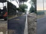 Immagini del lavori manutenzione strade e marciapiedi