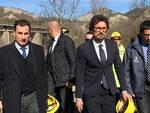 L'on. Morrone col Ministro Toninelli al viadotto Puleto