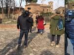La troupe di Rai1 a Ravenna