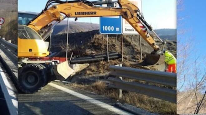 Lavori al Viadotto Puleto lungo la E45