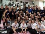 Le ragazze dell'Olimpia Teodora esultano dopo la vittoria