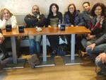 Sulla sinistra, Liliana Salvo assieme ai colleghi
