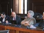 Una foto della conferenza di oggi in municipio