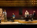 """Una scena dello spettacolo """"Regalo di Natale"""", adattamento teatrale del film di Pupi Avati"""