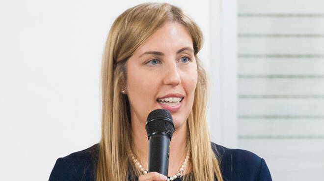 Valentina Palli, candidato sindaco per il centrosinistra. Foto di Benedetta Tarroni