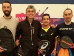 I finalisti del doppio maschile: da sinistra Carlo Conti, Matteo Bartolini, Alessandro Cervellati e Alessandro Testoni
