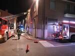 I Vigili del Fuoco durante le operazioni in Via Girolamo Rossi
