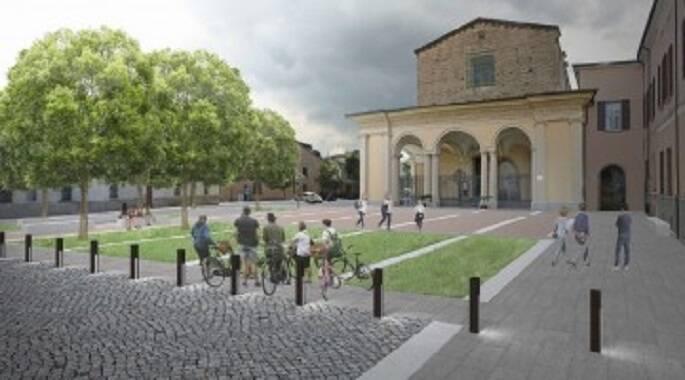 Rendering della riqualificazione di piazza Savonarola