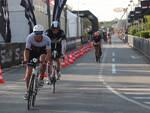 Un momento dell'Ironman, gara di Triathlon a Cervia