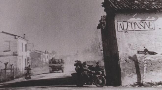 Alfonsine nel 1945, subito dopo la Liberazione (da Wikipedia)