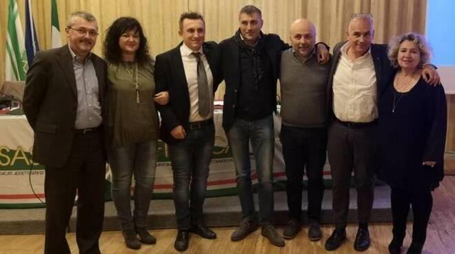 Gianluca Bagnolini (terzo da sinistra) nuovo segretario generale Fisascat Cisl Romagna